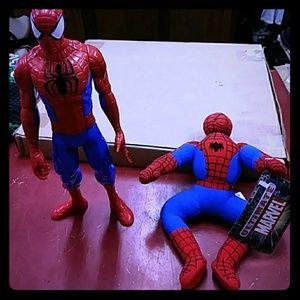 2 Spiderman Dolls selling as 1